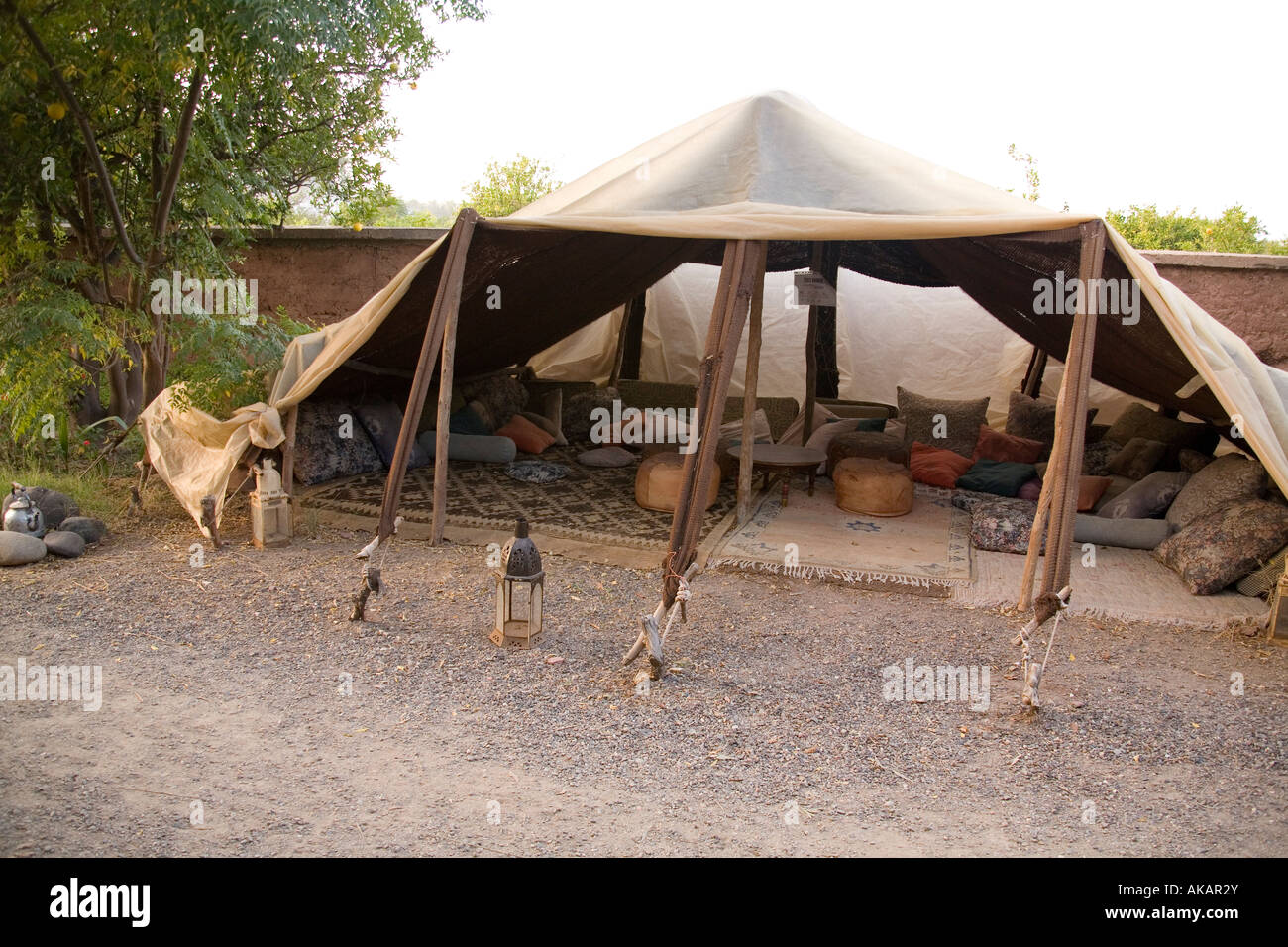 traditional moroccan berber tent marrakesh morocco stock photo