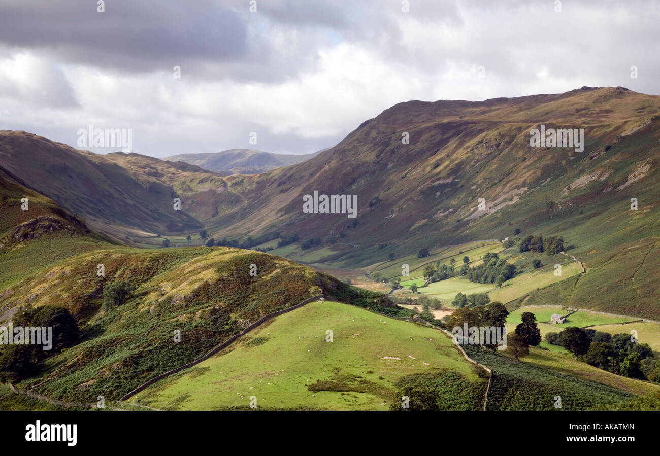 View From Halin Fell along the Boardale Valley Mountain Lake District National Park Cumbria Stock Photo