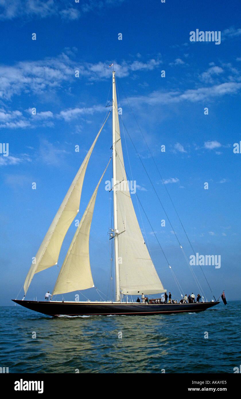 Classic J Class yacht Velsheda Stock Photo
