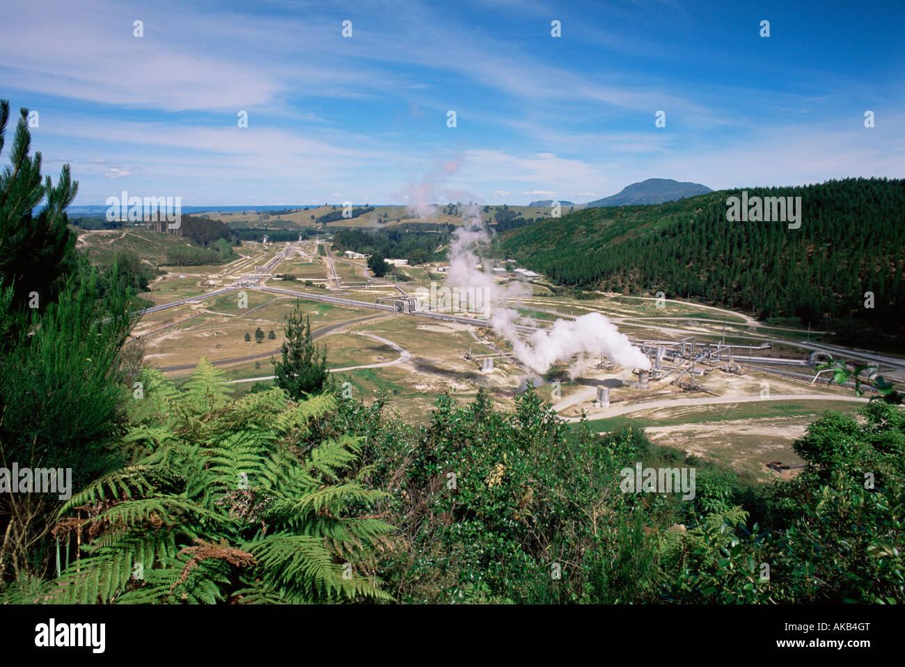 Geothermal Power Station, Rotoroa, North Island, New Zealand - Stock Image