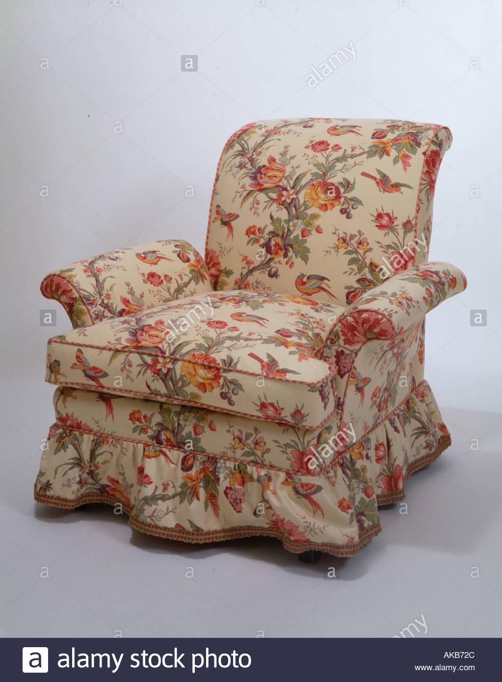 a comfortable armchair - Stock Image