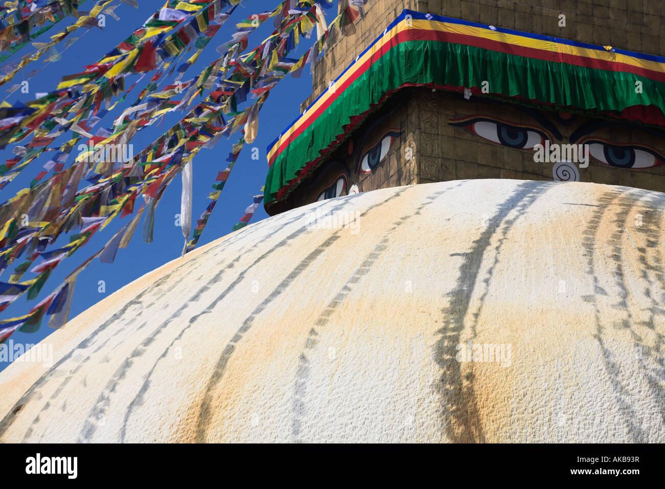 Nepal, Kathmandu, Bodhnath Buddhist stupa, Lhosar Tibetan and Sherpa New Year festival - Stock Image