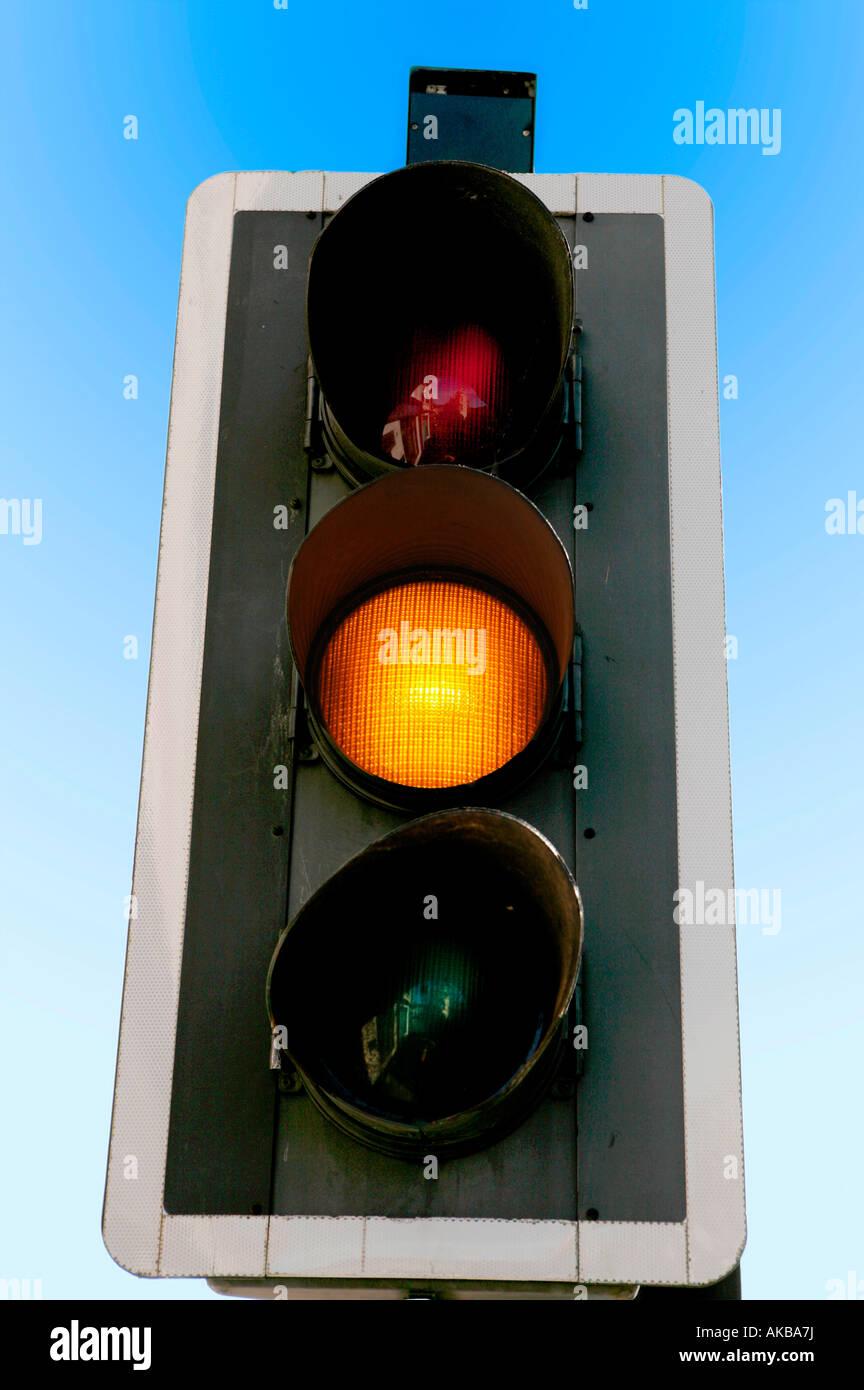 Amber Traffic Light Stock Photos Amp Amber Traffic Light