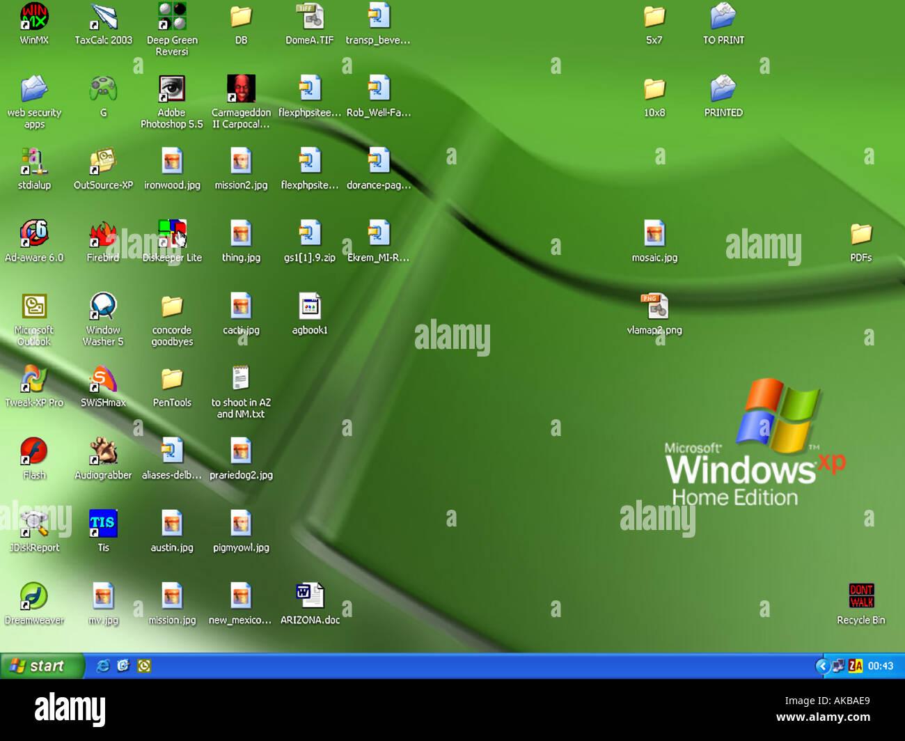 Windows XP desktop - Stock Image