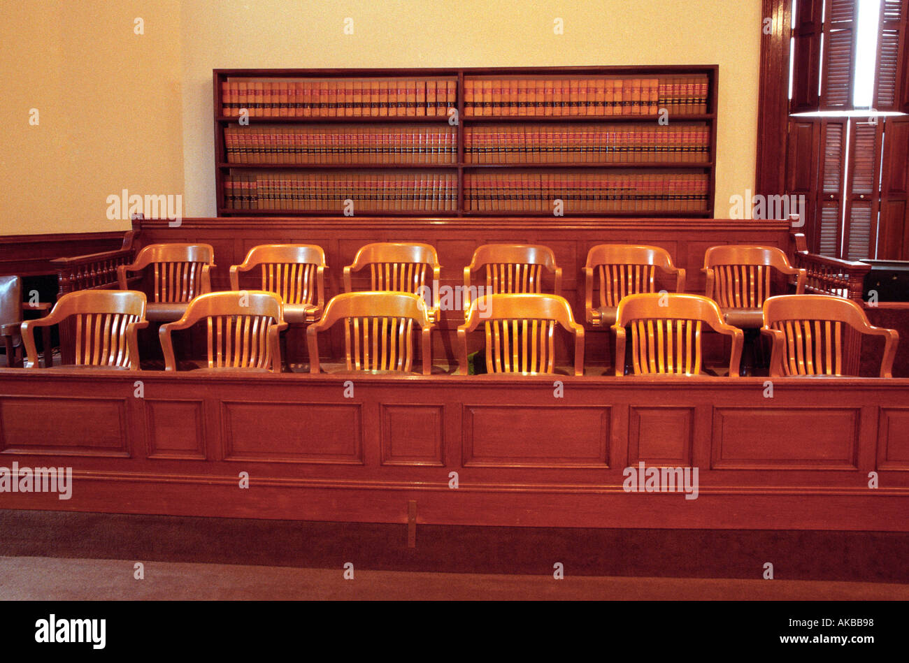Courtroom jury chairs - Stock Image
