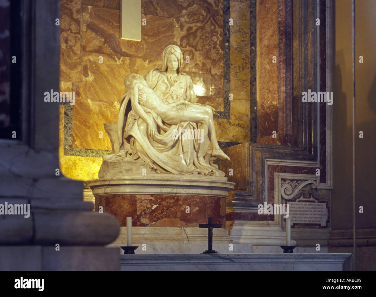Michelangelo s Pieta in Saint Peter s Basilica in Rome Stock Photo