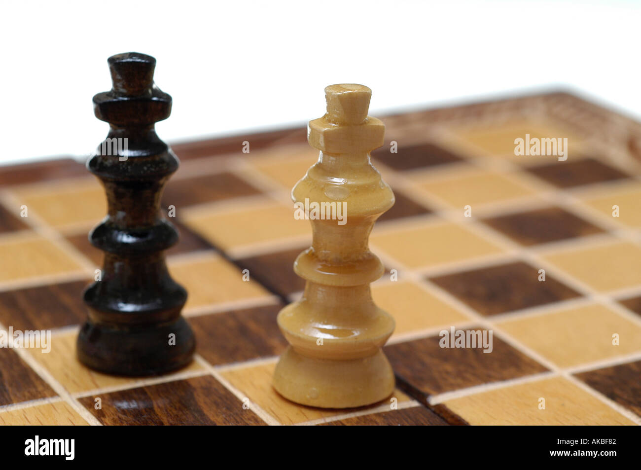 chessman, stalemate, kings - Stock Image