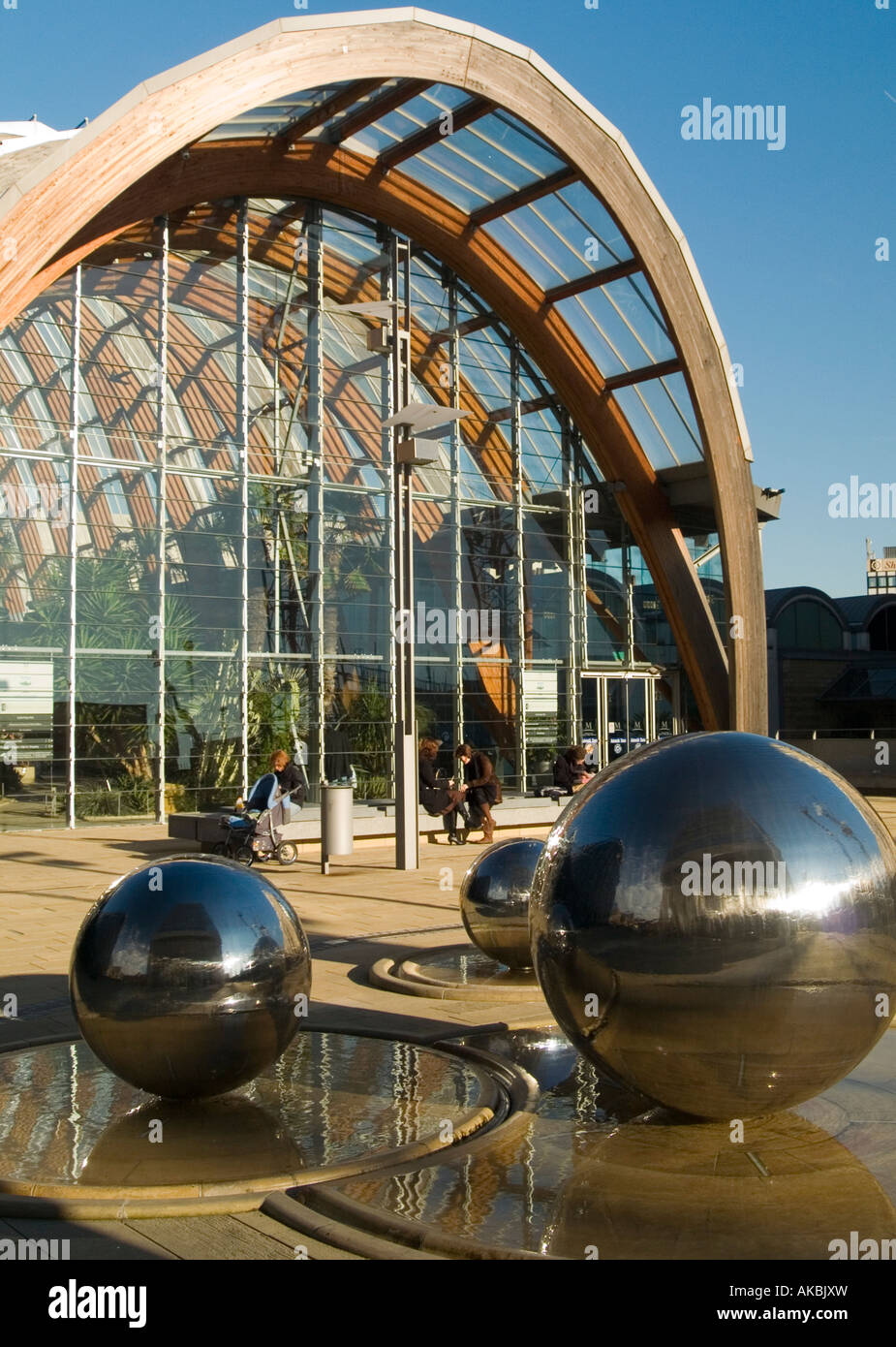 The Winter Garden And Spheres That Make Up Part Of The Sculpture