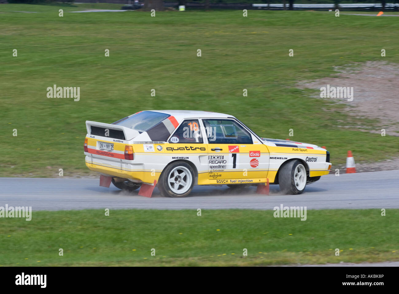 audi quattro short wheel base group b rally car at oulton park motor stock photo 14949525 alamy. Black Bedroom Furniture Sets. Home Design Ideas