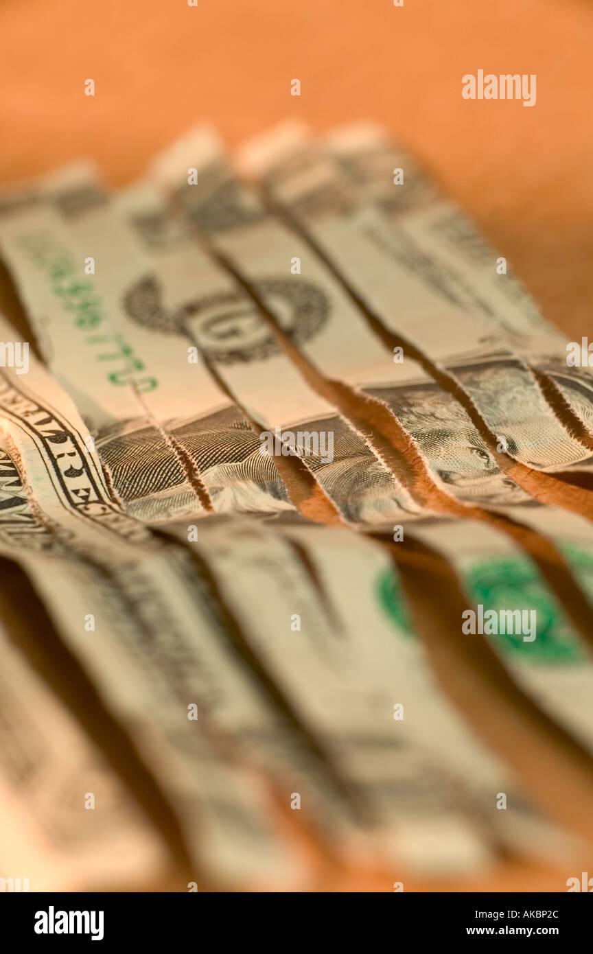 shredded money - Stock Image