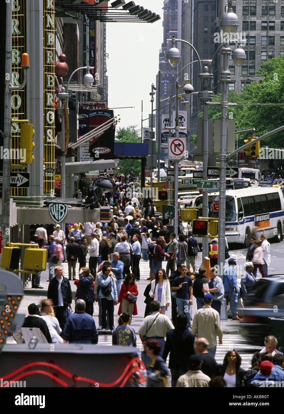 42nd Street New York - Stock Image