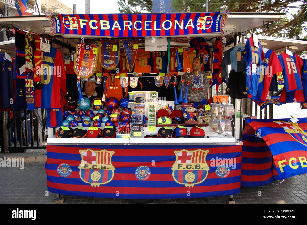 f838556eb Merchandise Shop of the FC Barcelona Stock Photo: 14951690 - Alamy