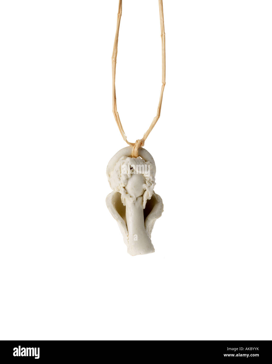 Christmas angel ornament hanging on cord - Stock Image