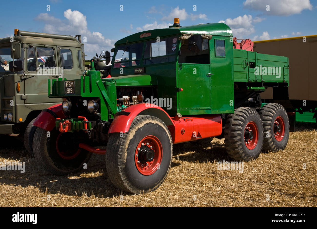 1945 Scammell SV/2s Recovery truck Deliverance, Reg No. PSY 919, at the Great Dorset Steam Fair, England, UK - Stock Image