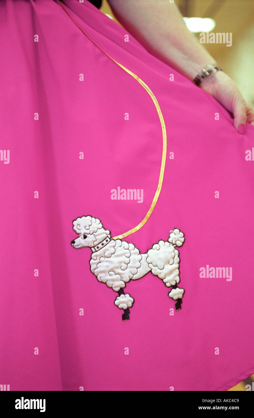 pink poodle skirt - Stock Image