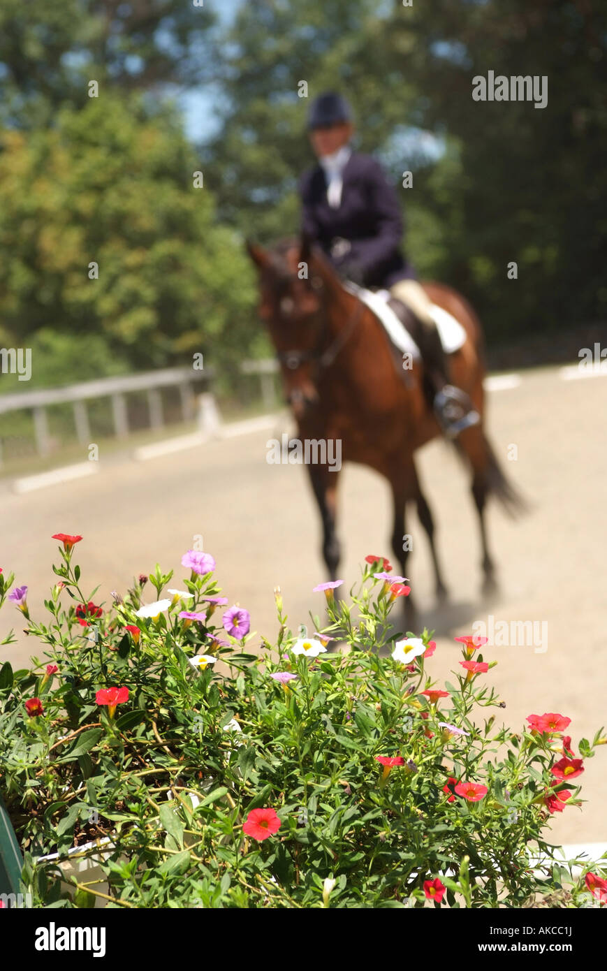 An equestrian dressage competition at Glenwood Park Middleburg - Stock Image