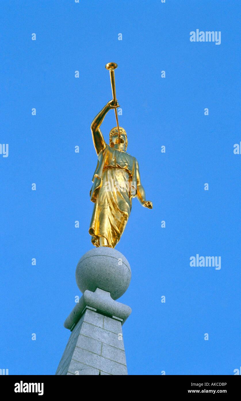 statue of angel moroni at birmingham alabama temple salt lake city