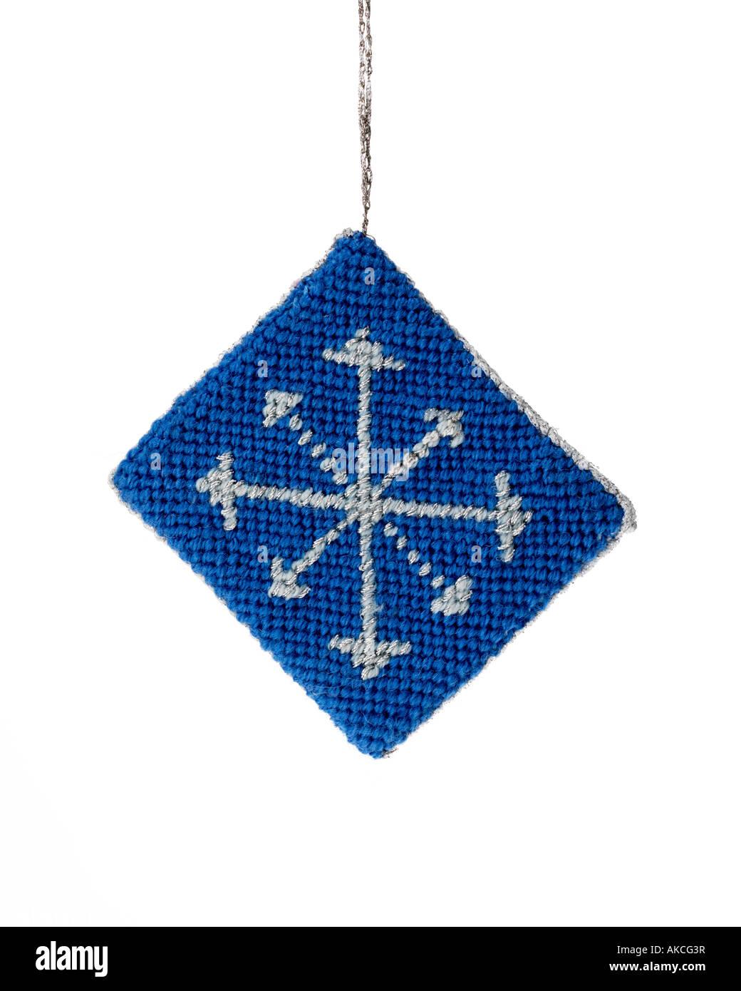 Needlepoint Christmas Ornament Stock Photo 14957866 Alamy