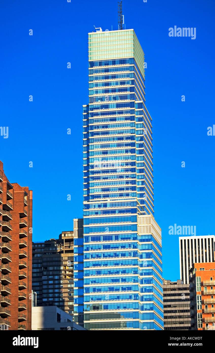 Bloomberg Building,media, New York, BUILDING, CITY, EXTERIOR, FAÇADE, IN A ROW, SKYSCRAPER, WINDOWS, WINDOW, URBAN Stock Photo