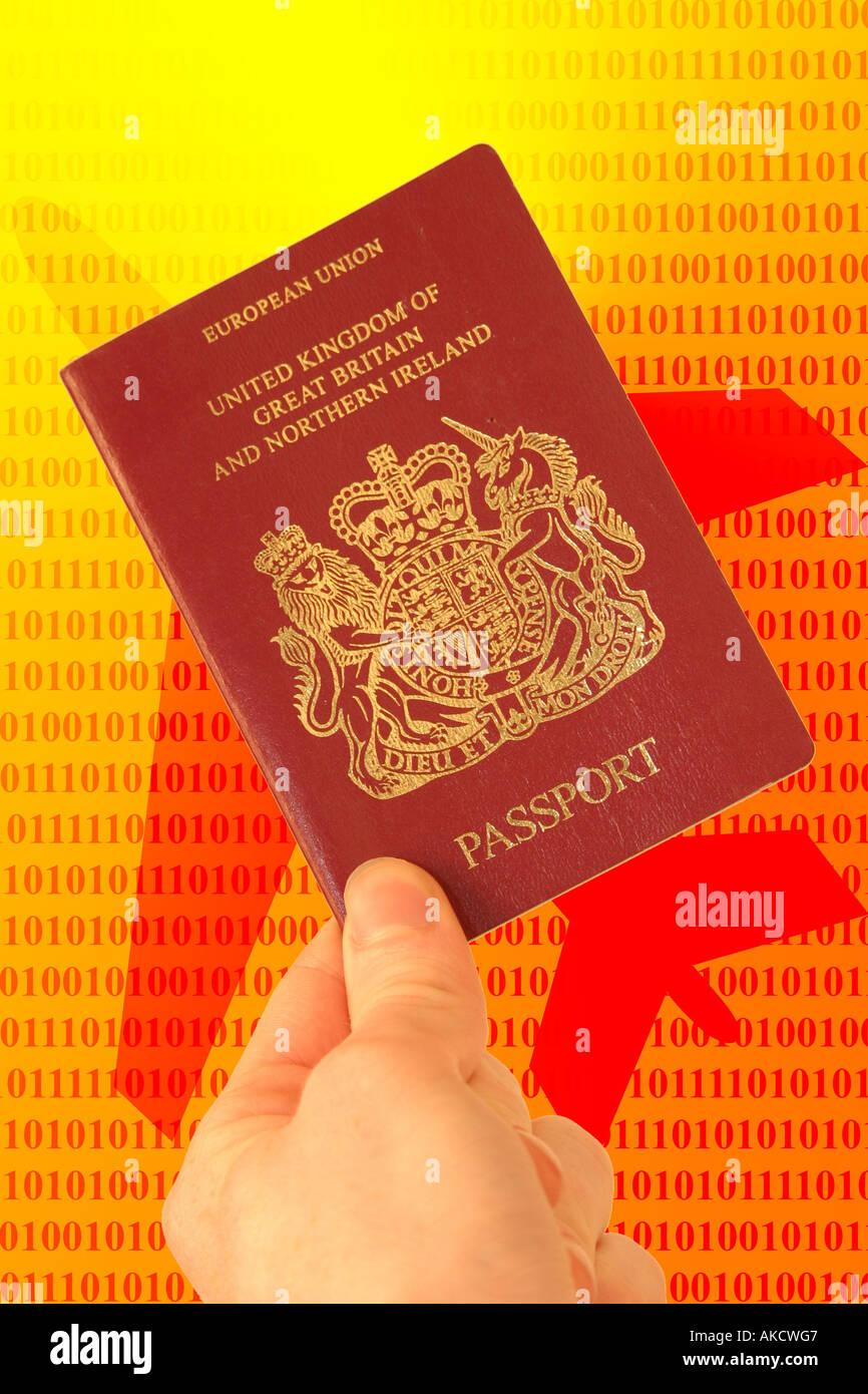 A Stock Photograph of a concept of a passport being over the shape of a airplane representing the new ease of transportation Stock Photo