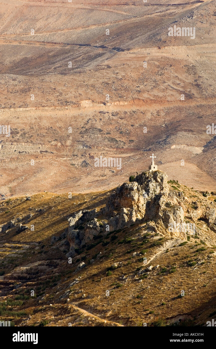 Christian shrine in a remote mountain Lebanon Middle East Asia - Stock Image