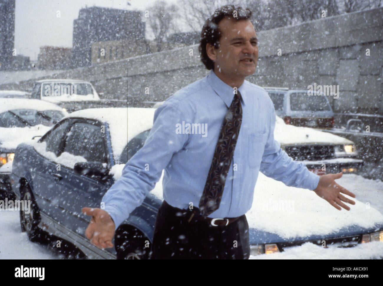 GROUNDHOG DAY Bill Murray in the 1993 Columbia Tristar film - Stock Image
