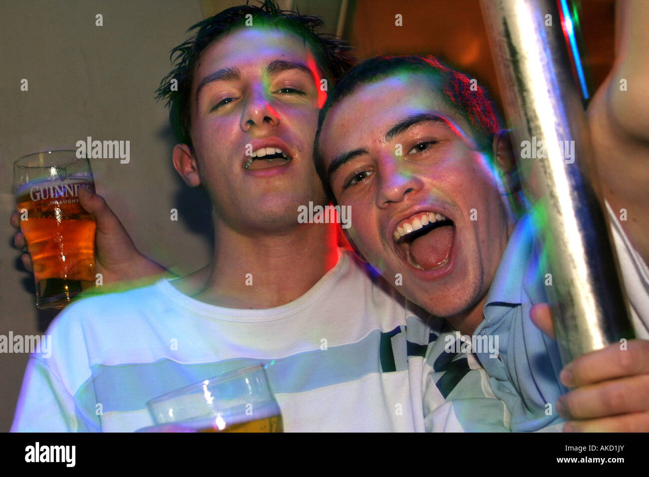 binge drinking pub culture - Stock Image
