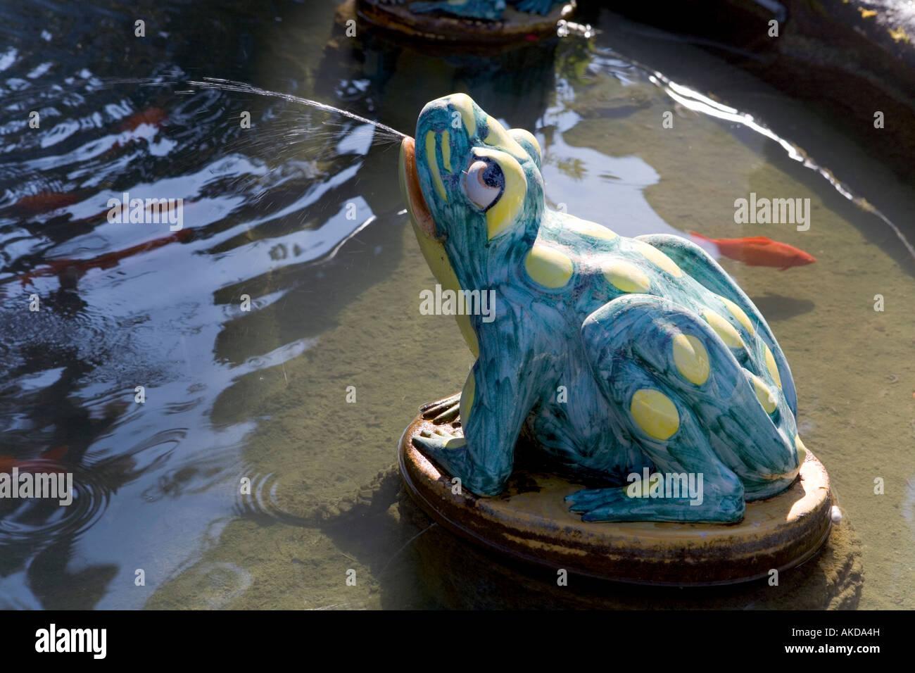 Ronda Malaga Province Spain Ceramic Frog In Fountain At Casa Don Bosco Or  Casa De San Juan Bosco