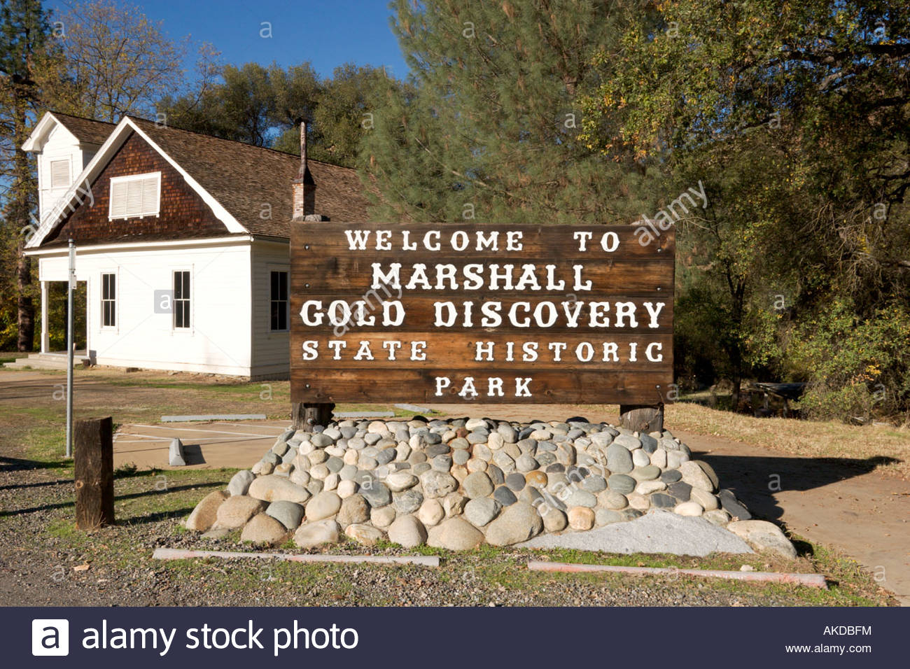 Coloma Schoolhouse at Marshall Gold Discovery SHP California - Stock Image