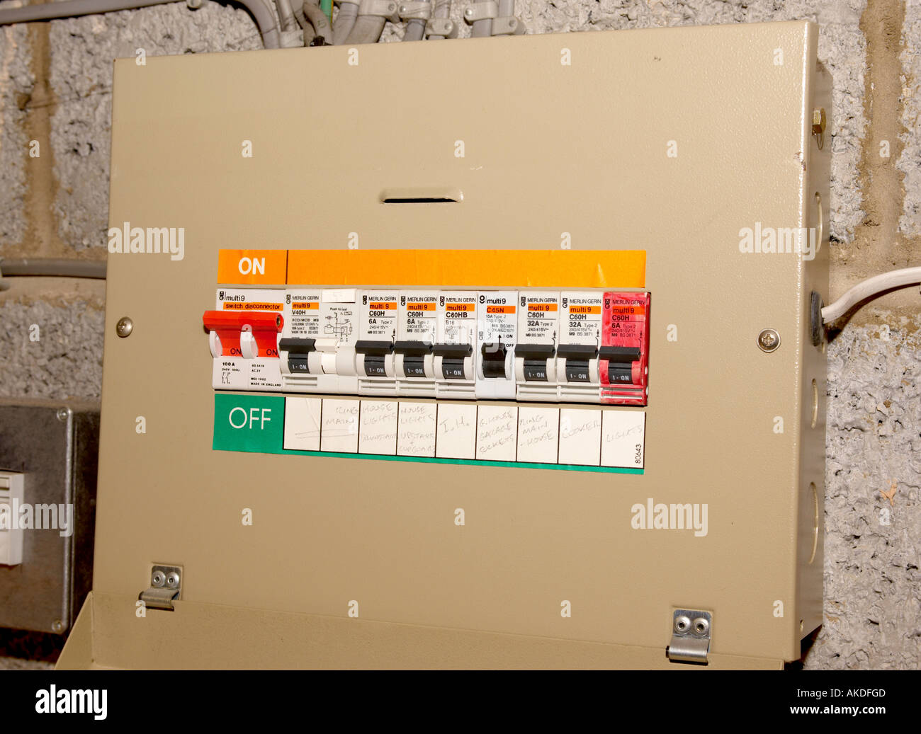 Domestic Fuse Box/Circuit Breaker - Stock Image