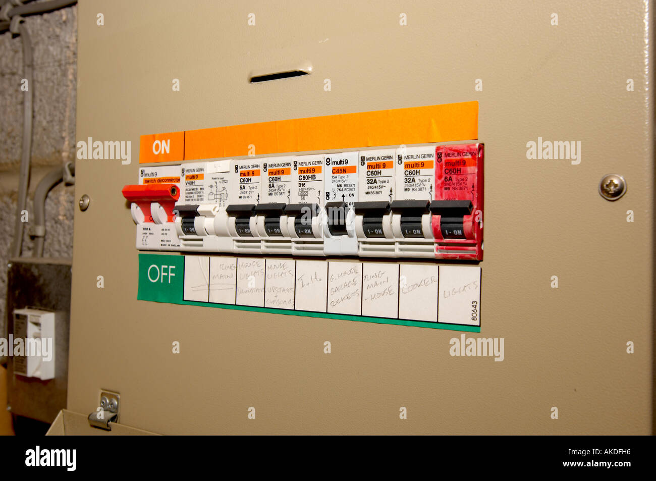 Domestic Fuse Box Stock Photos Images Alamy Main Electrical Circuit Breaker Image