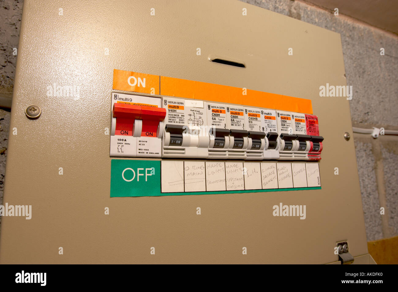 Domestic Fuse Box Stock Photos Images Alamy Circuit Breaker Image