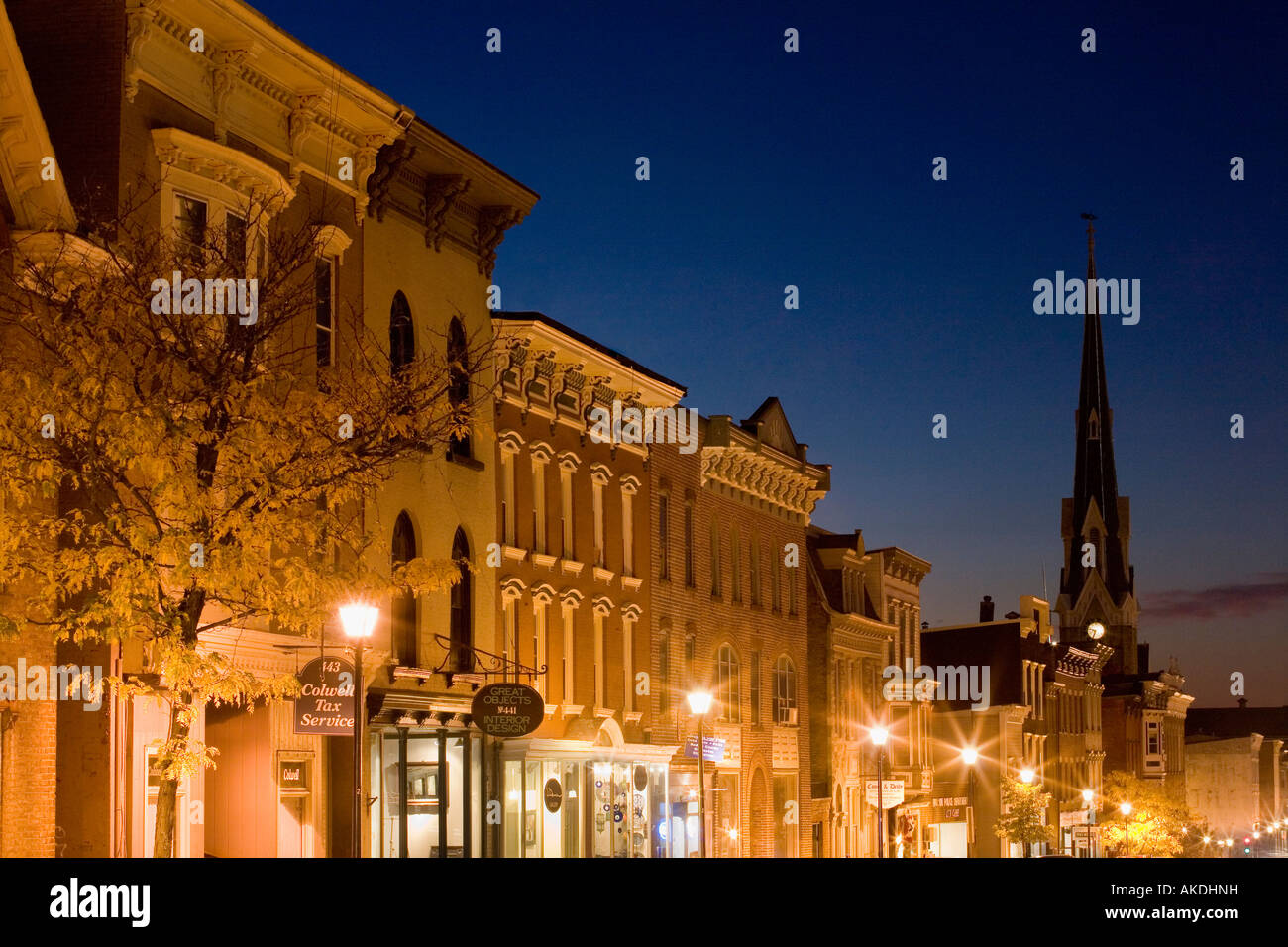 Warren Street Hudson New York - Stock Image