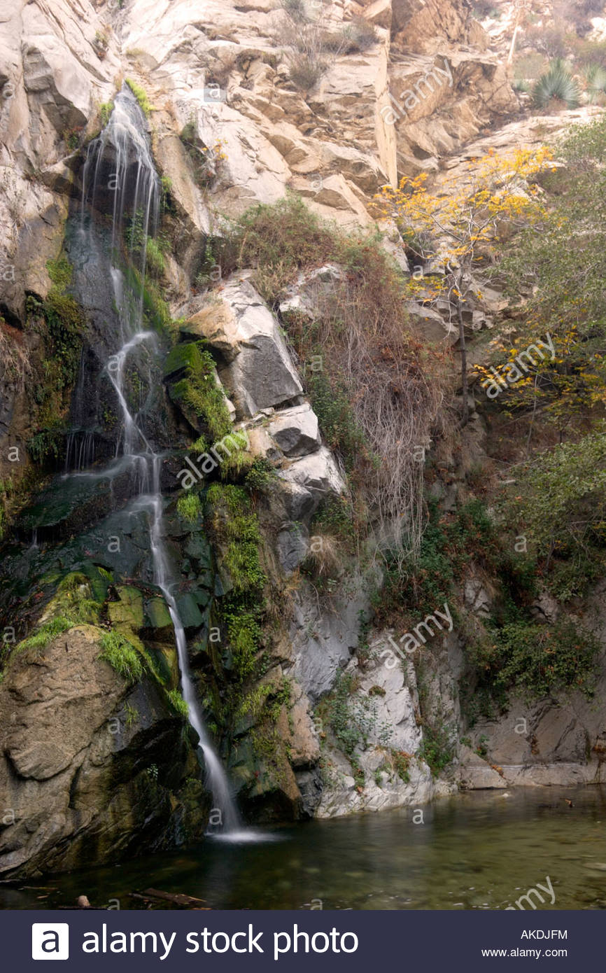 Sturtevant Falls San Gabriel Mountains California - Stock Image