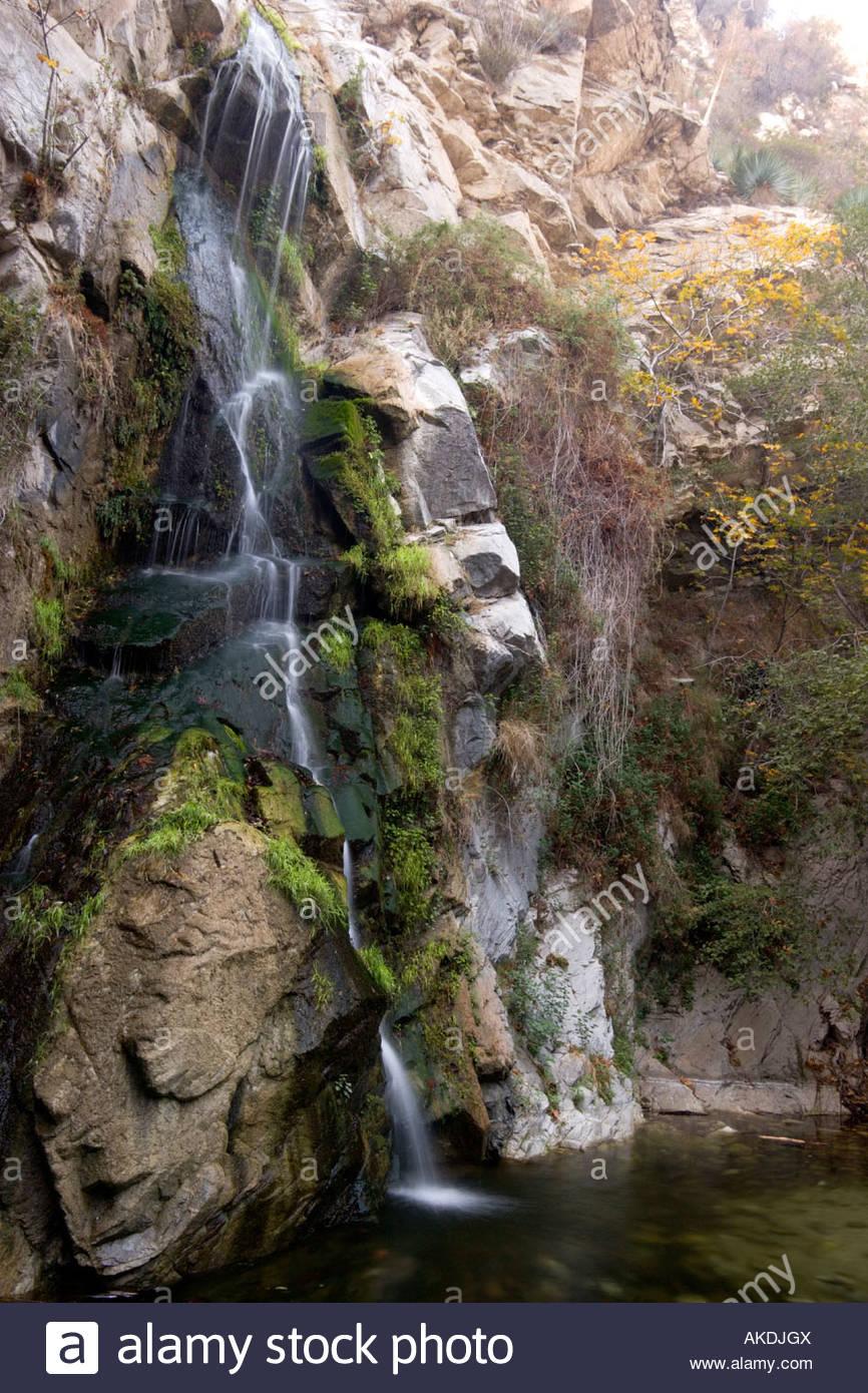 Sturtevant Falls San Gabriel Mountains California Stock Photo