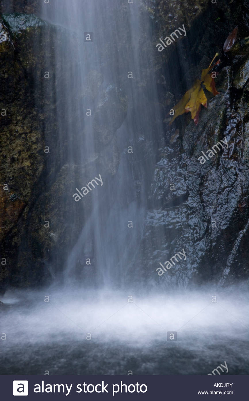Sturtevant Falls Waterfall San Gabriel Mountains California Stock Photo