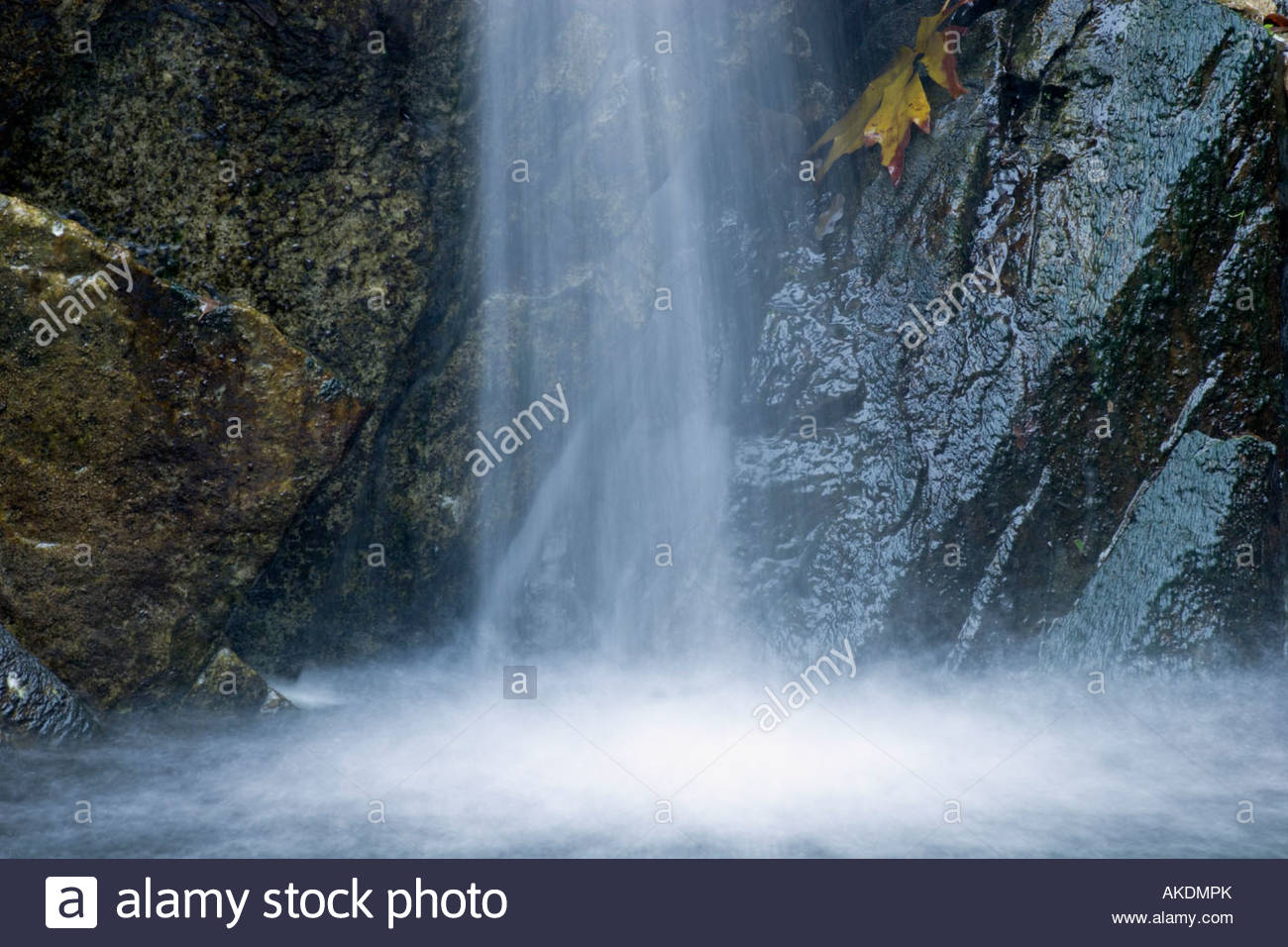 Sturtevant Falls Waterfall Cascades San Gabriel Mountains California - Stock Image