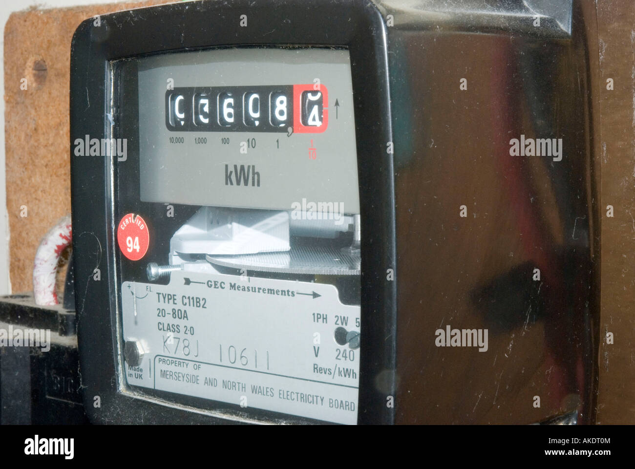 Domestic Electricity Meter UK - Stock Image
