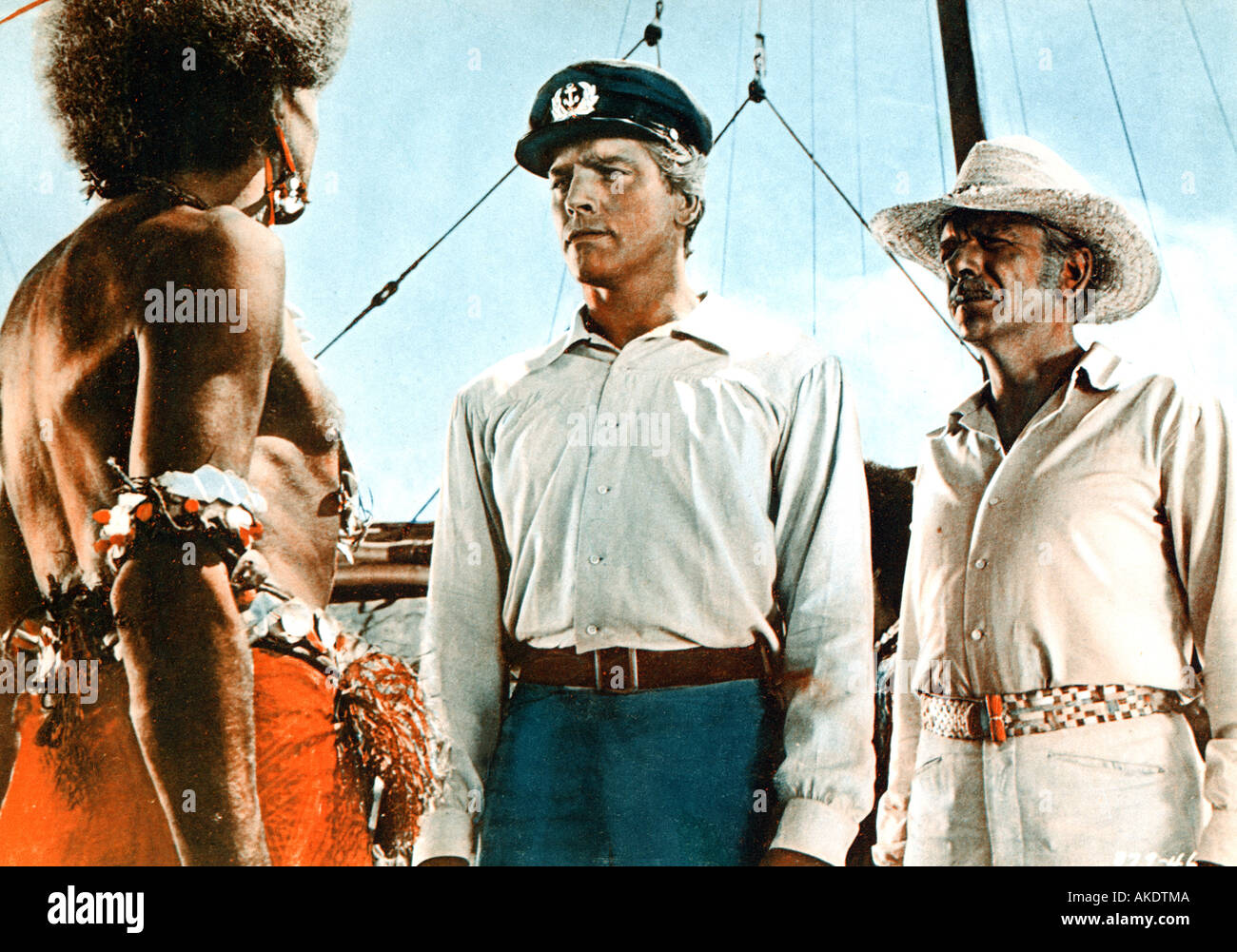 HIS MAJESTY O KEEFE 1954 Warner film with Burt Lancaster centre - Stock Image