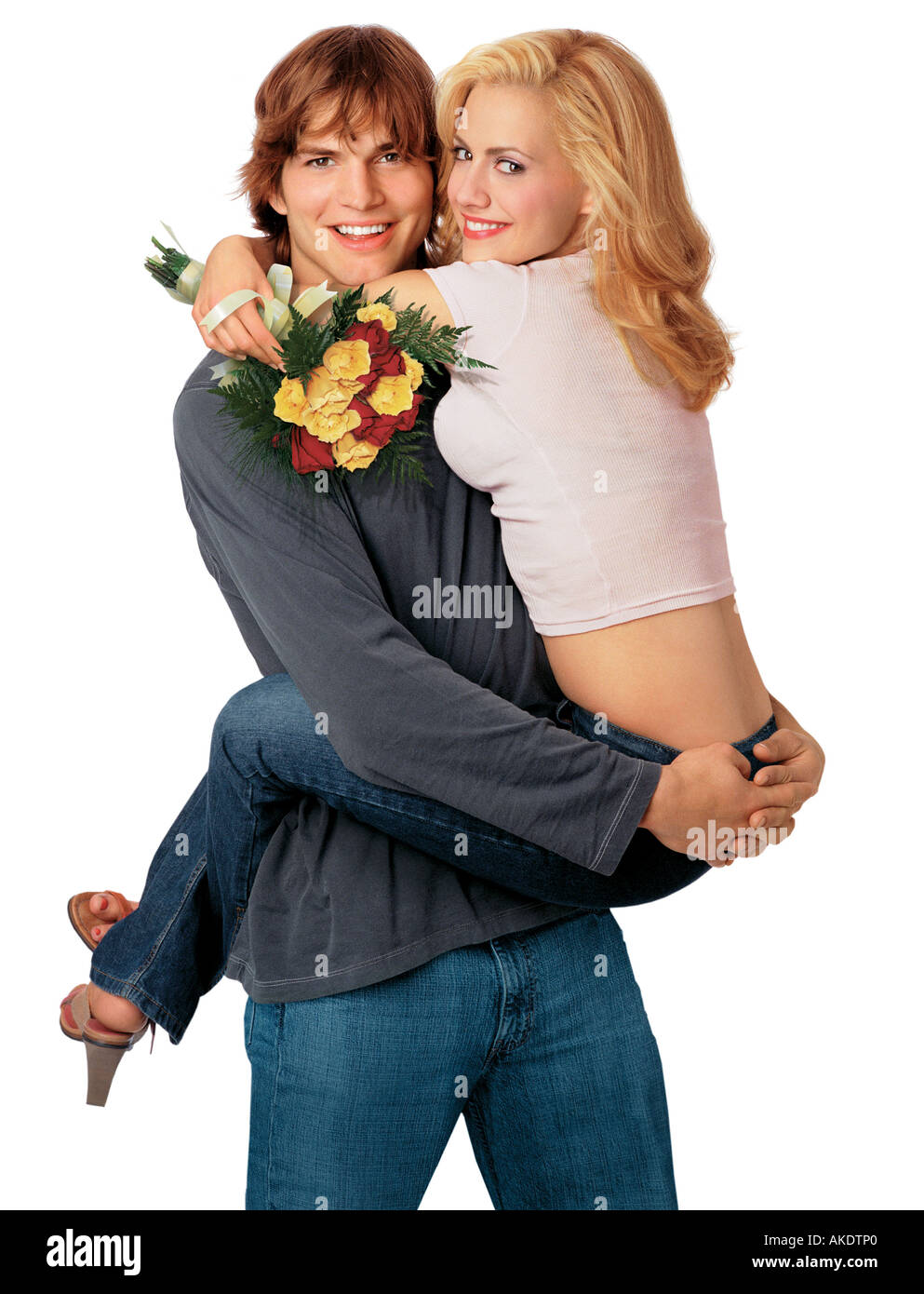 JUST MARRIED 2003 TCF film with Brittany Murphy and Ashton Kutcher - Stock Image