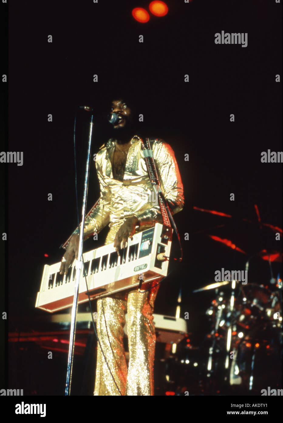 BILLY PRESTON US musician about 1974 - Stock Image