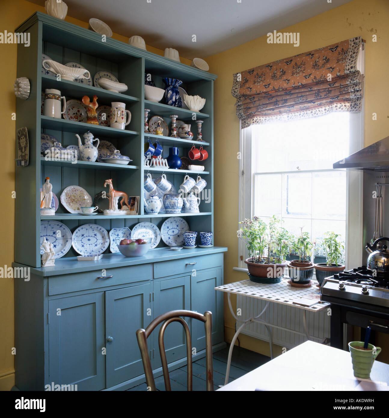 Crockery On Shelves In Kitchen Stock Photos & Crockery On Shelves In ...