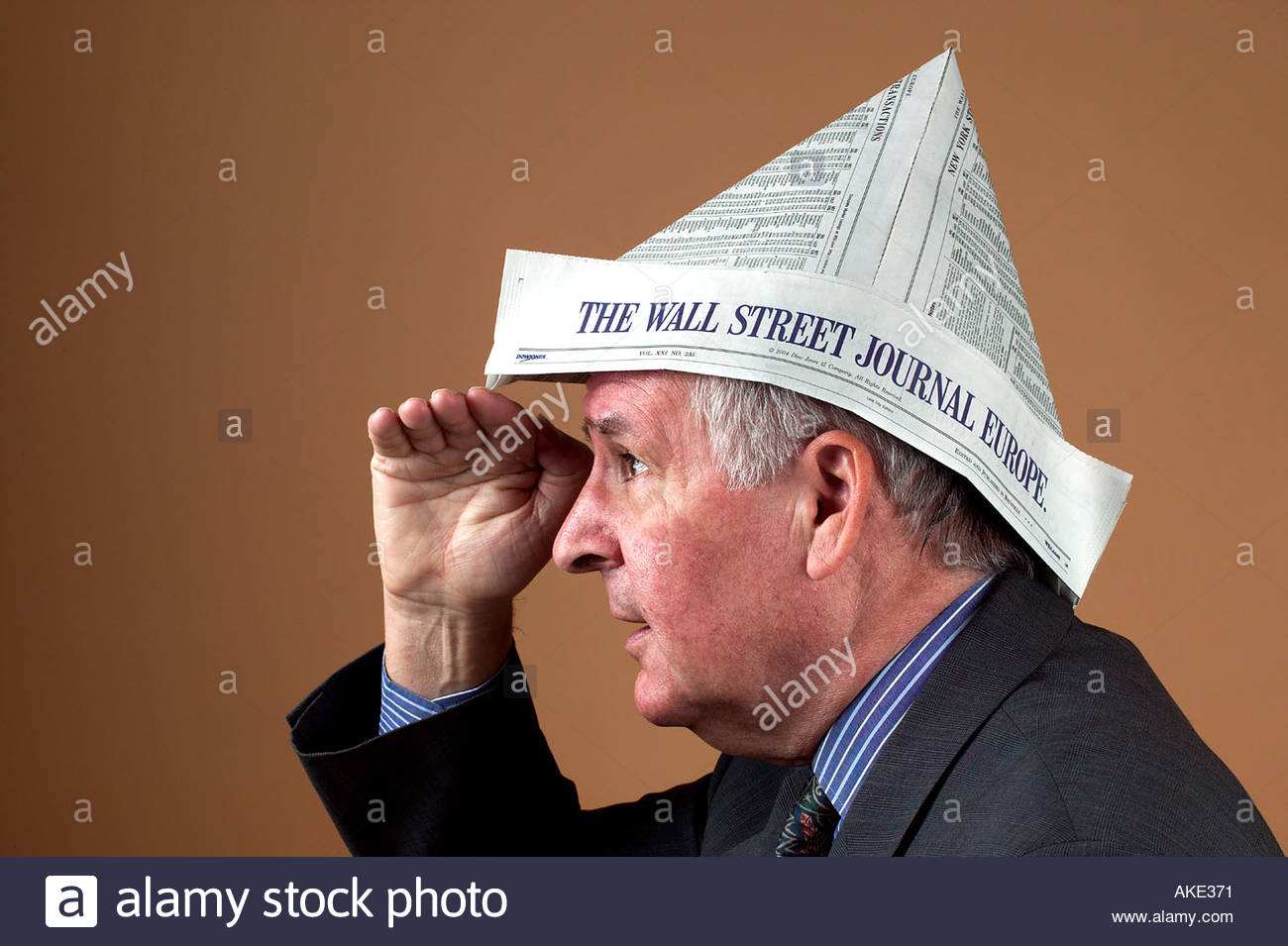 Look to the financial future - Stock Image