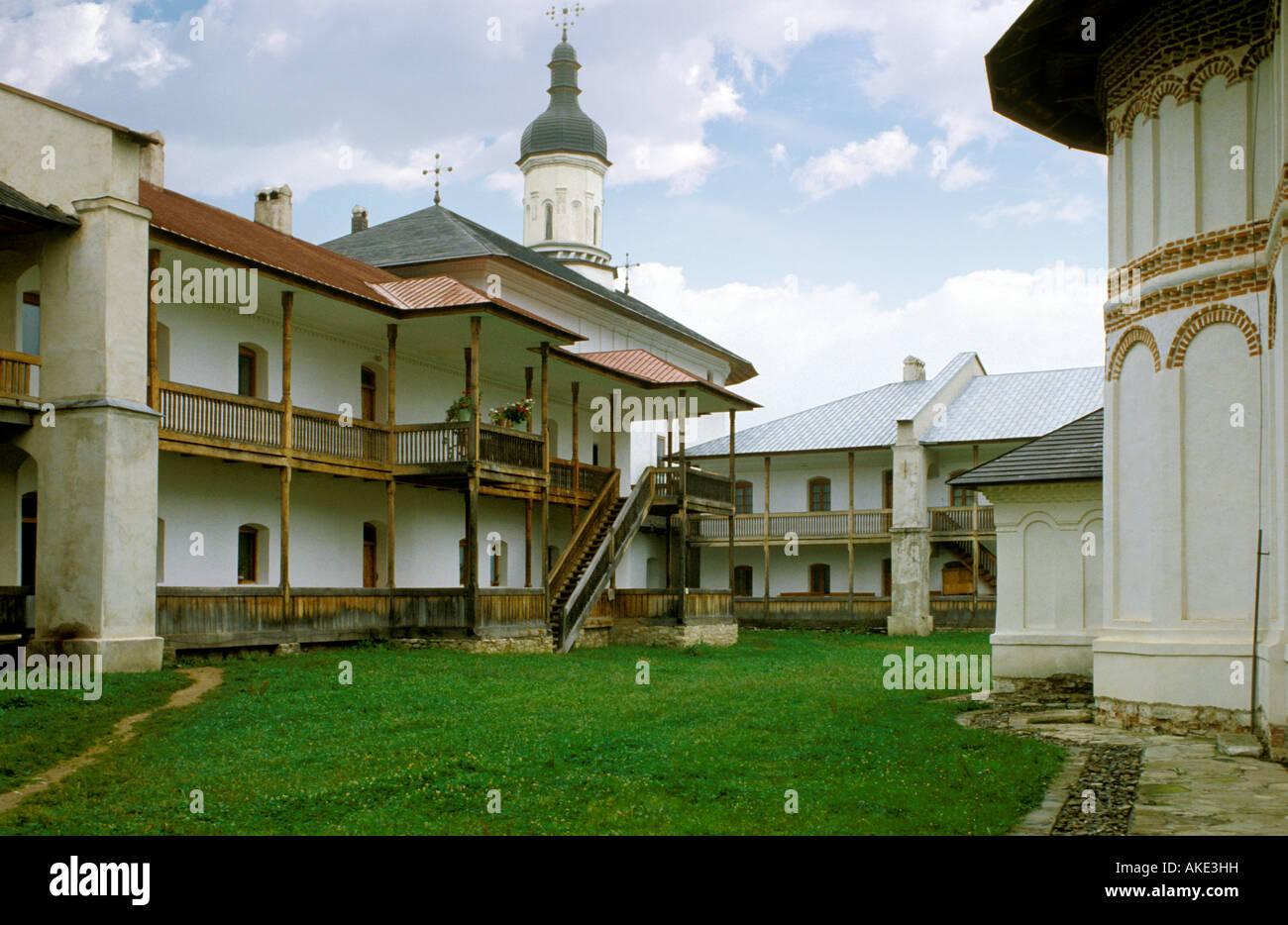 monastery, secu, romania - Stock Image