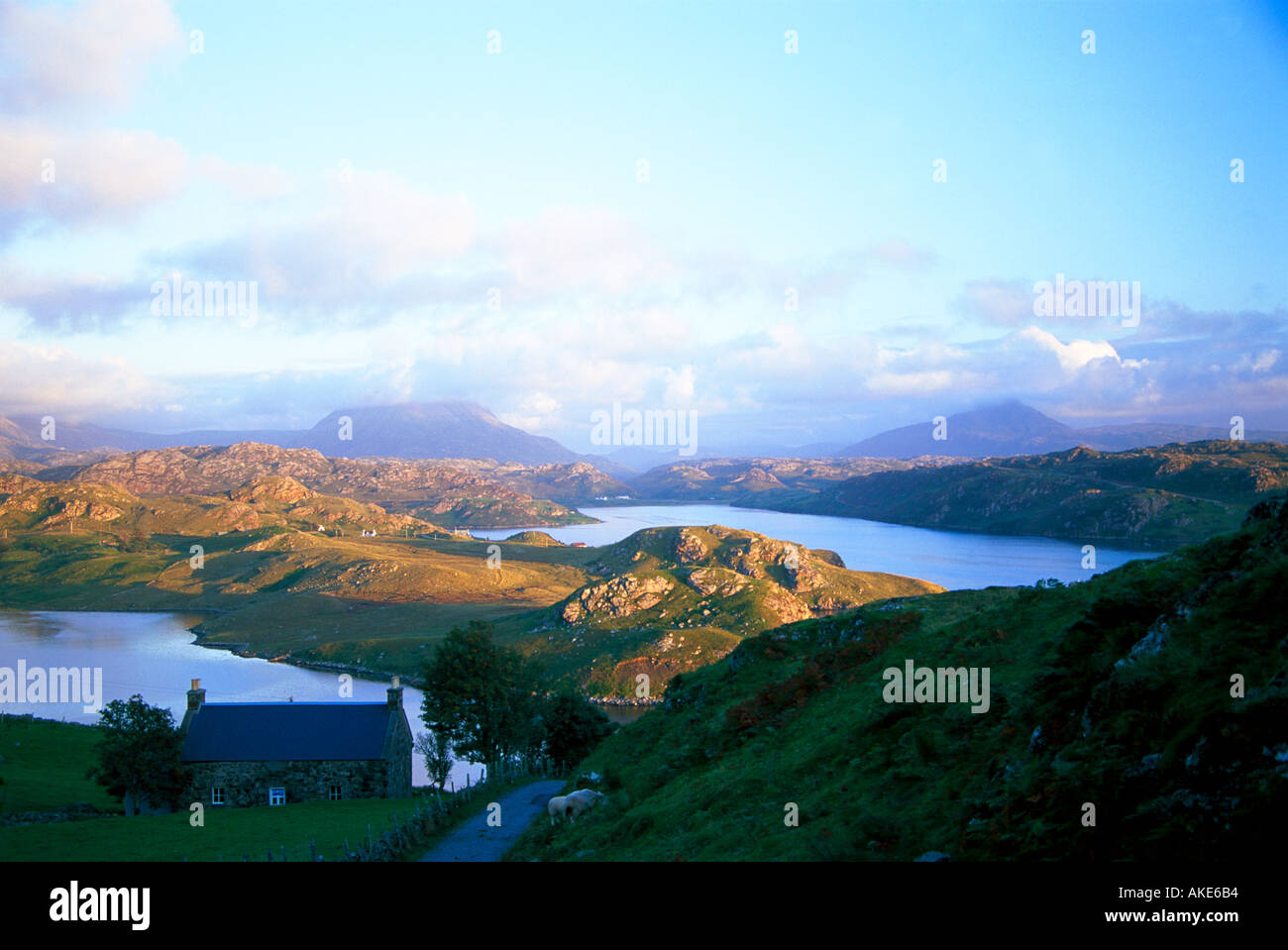 View of Arckle and Ben Stack Scotland - Stock Image