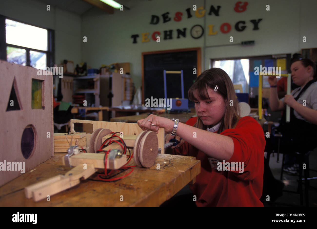 secondary school pupil in design and technology class waverley
