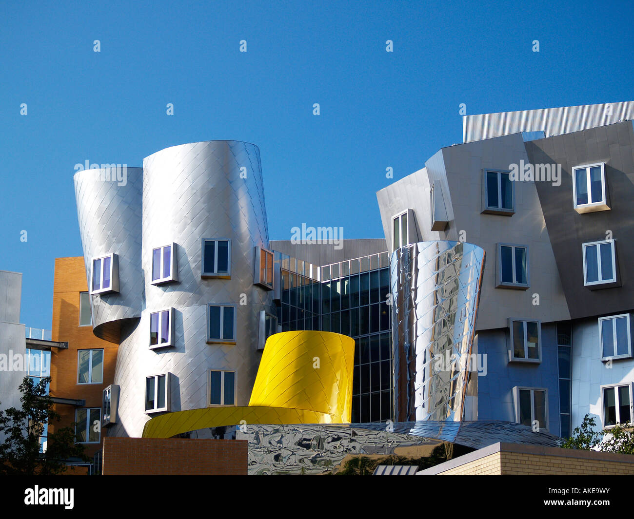 The Stata Center Architect Frank Gehry Massachusetts Institute of Technology Cambridge Massachusetts USA - Stock Image