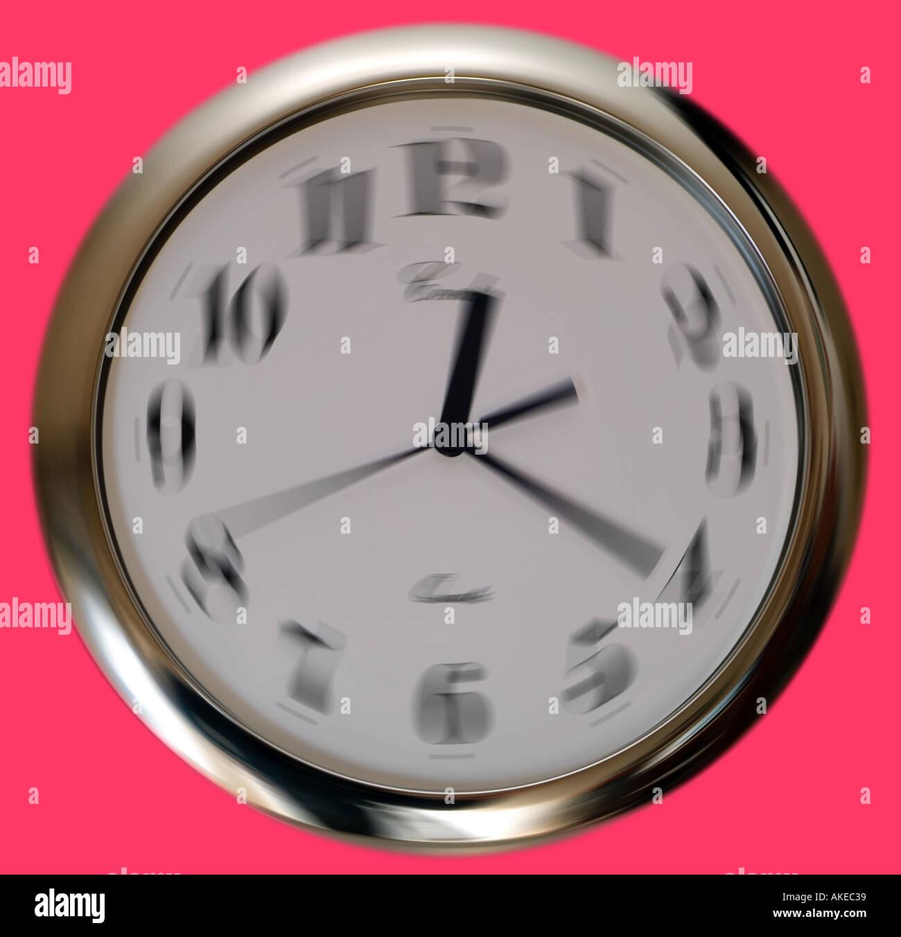 Spinning Clock - Stock Image