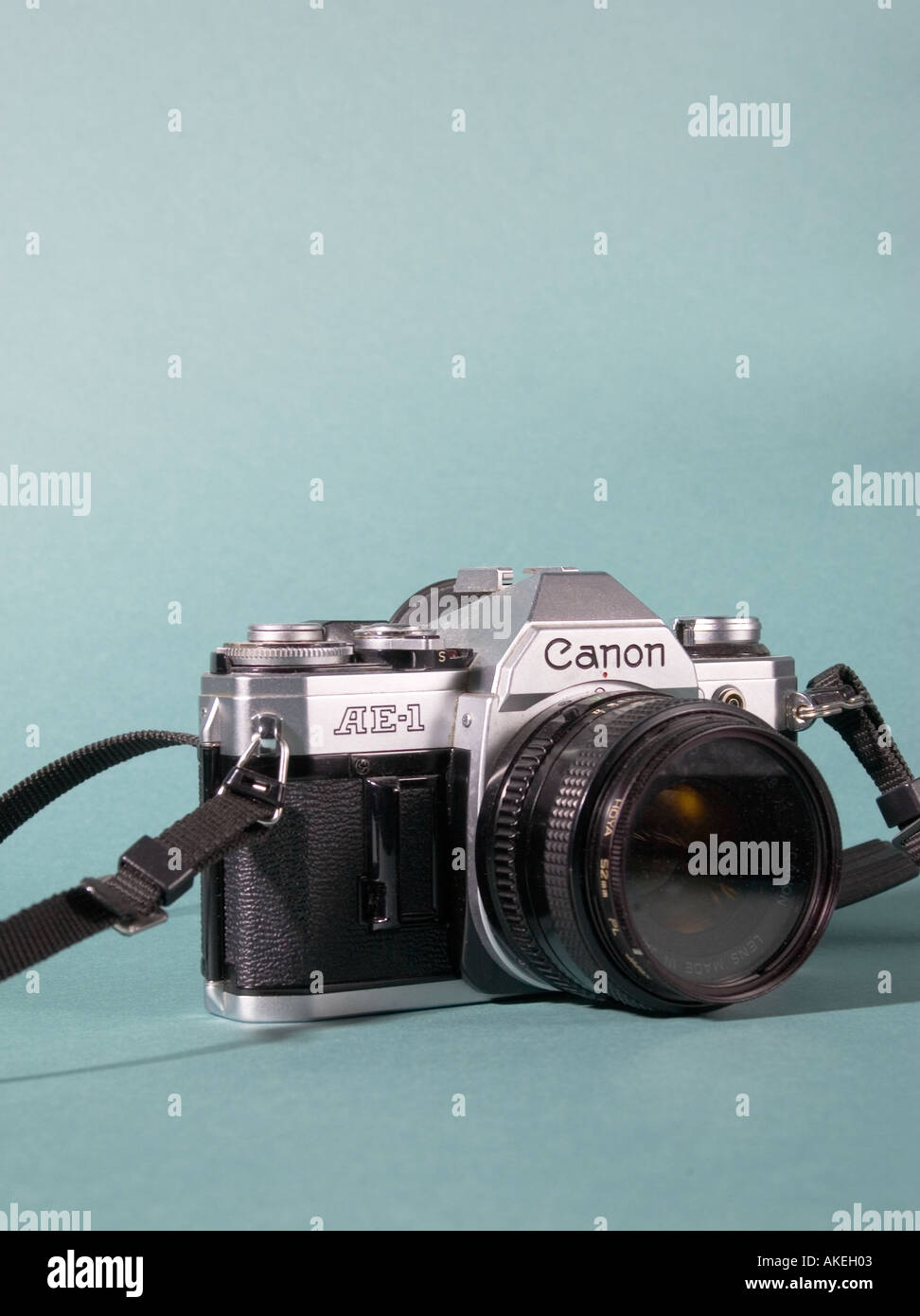 Stock Photo of Older Model Canon AE 1 Film Camera - Stock Image