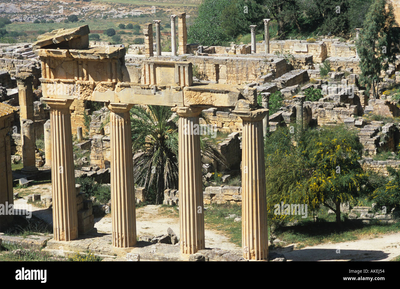 Temple of Apollo Cyrene Libya - Stock Image